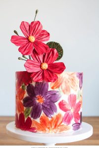 Chocolate Floral Wrap
