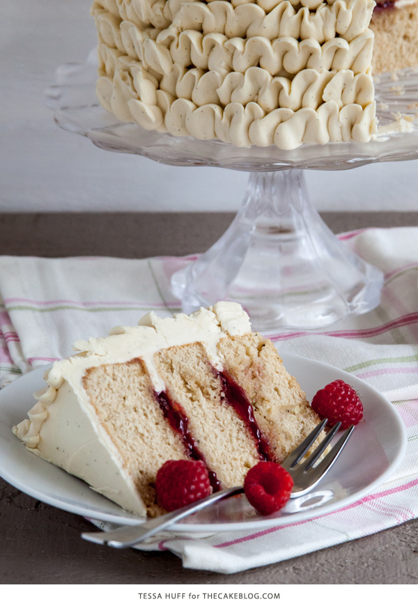 Raspberry Earl Grey Cake | by Tessa Huff for TheCakeBlog.com