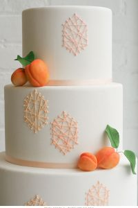 Peach String Art Cake