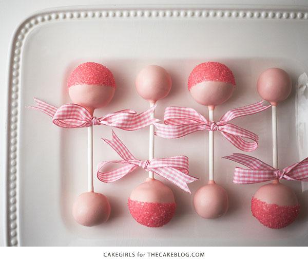 Decorating cake pops for girl baby shower