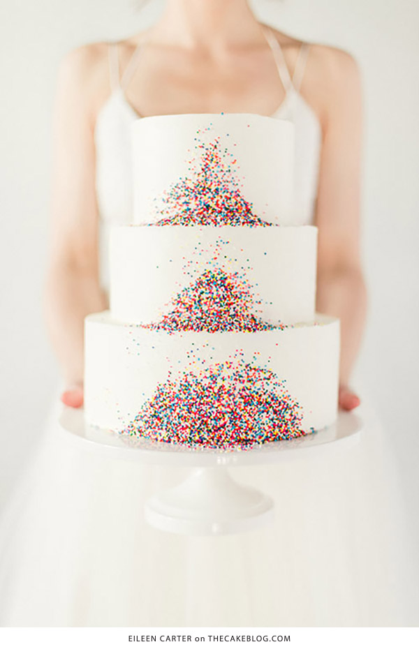10 Confetti Throwing Cakes  | including this design by Eileen Carter Creations | on TheCakeBlog.com