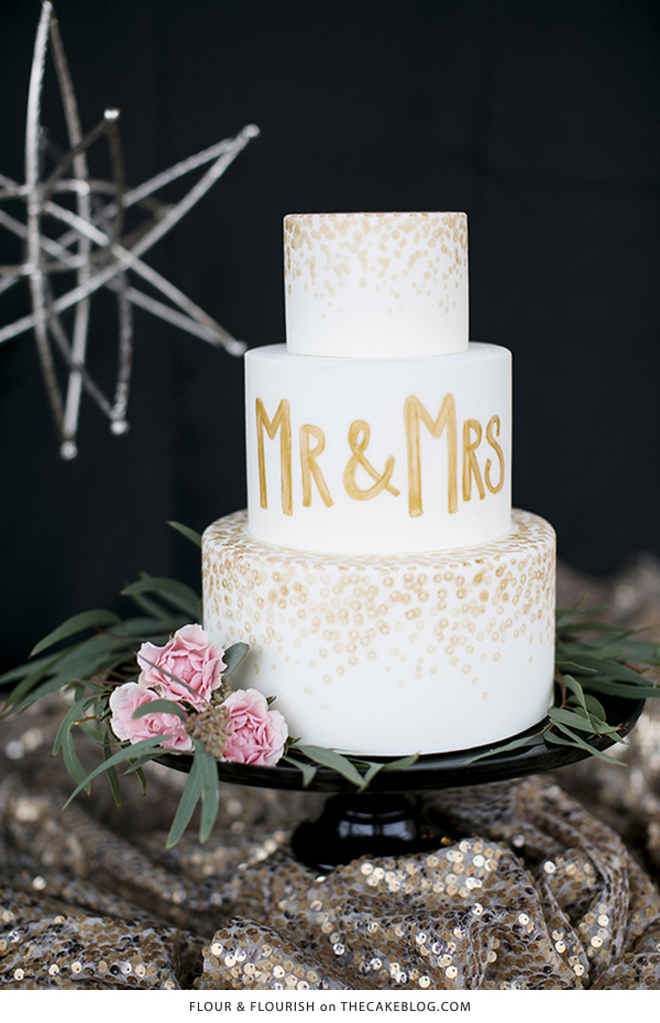 10 Confetti Throwing Cakes  | including this design by Flour & Flourish  | on TheCakeBlog.com