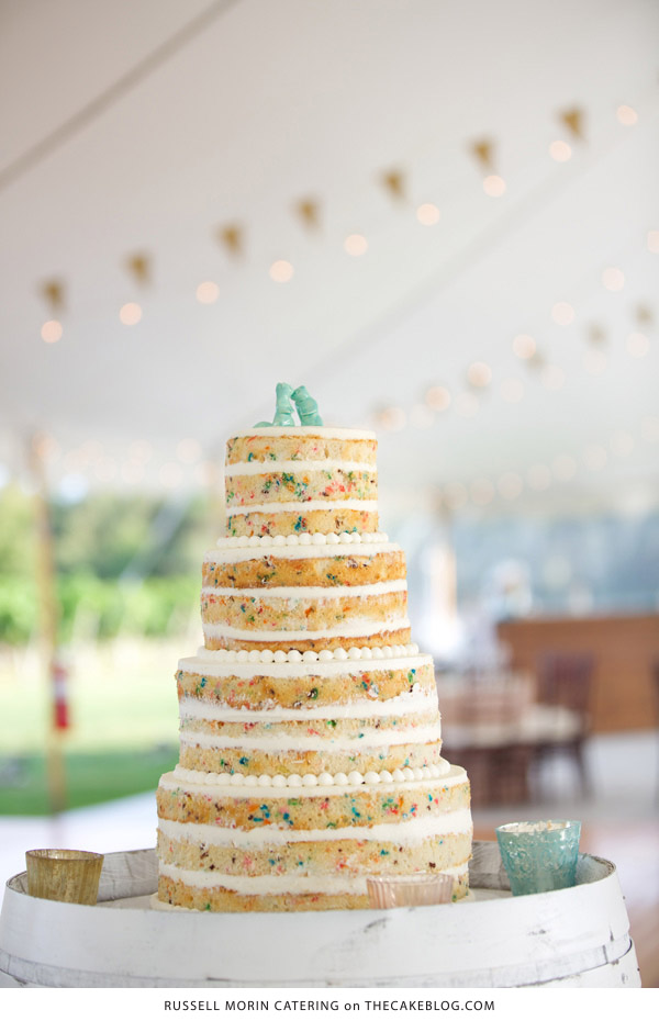 10 Confetti Throwing Cakes  | including this design by Russel Morin Catering | on TheCakeBlog.com