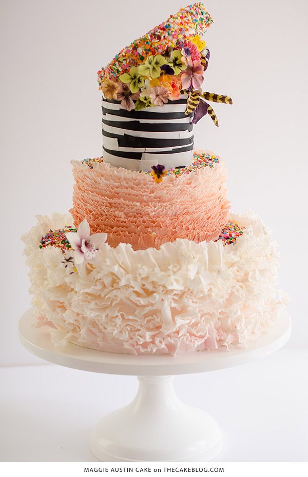 10 Confetti Throwing Cakes | including this design by Maggie Austin | on TheCakeBlog.com