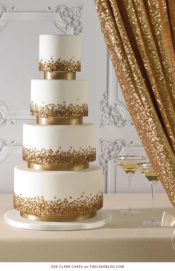 10 Confetti Throwing Cakes | including this design by Zoe Clark Cakes | on TheCakeBlog.com