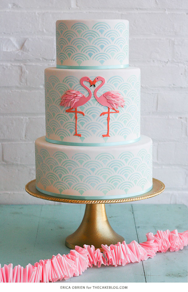 Admirable Flamingo Cake The Cake Blog Personalised Birthday Cards Bromeletsinfo