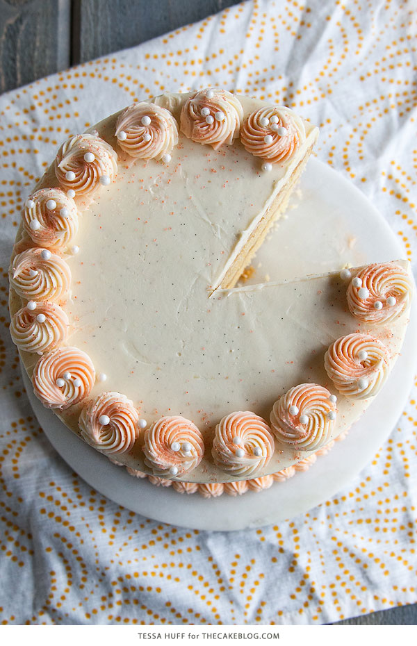 Orange Creamsicle Cake | | by Tessa Huff for TheCakeBlog.com