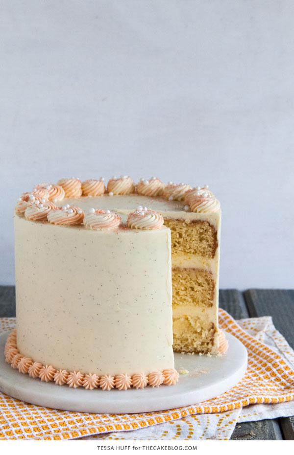 Orange Creamsicle Cake | | by Tessa Huff for TheCakeBlog.com