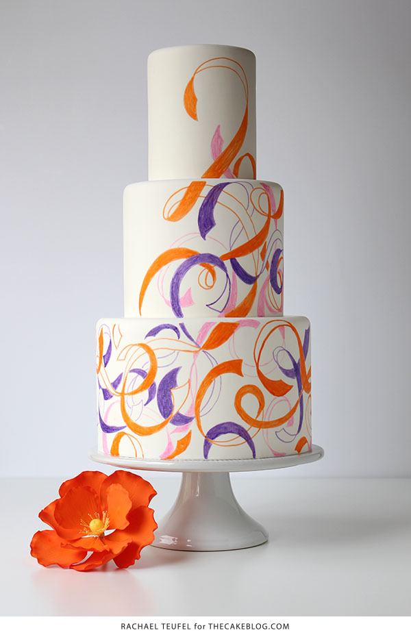 Swirling Ribbons Cake | by Rachael Teufel for TheCakeBlog.com