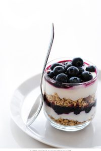 Roasted Blueberry Parfaits