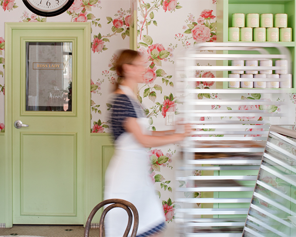 A peek inside one of our favorite bakeries | Bakery Tour of Butter Baked Goods | on TheCakeBlog.com