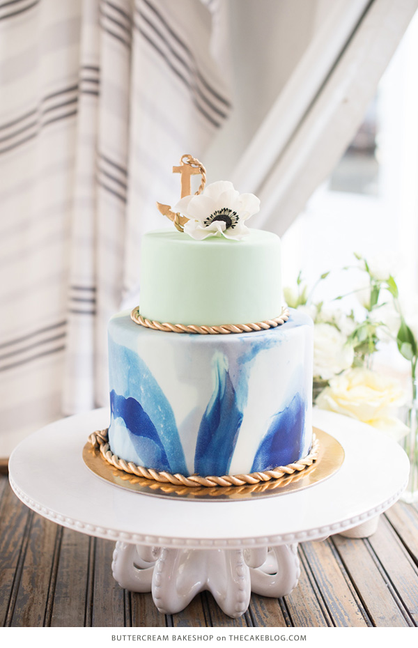 10 Sea-Loving Nautical Cakes  | including this design by Buttercream Bakeshop  | on TheCakeBlog.com