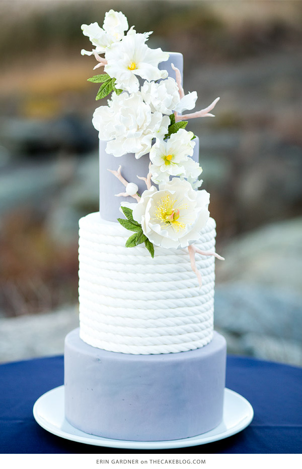 10 Sea-Loving Nautical Cakes  | including this design by Erin Gardner  | on TheCakeBlog.com
