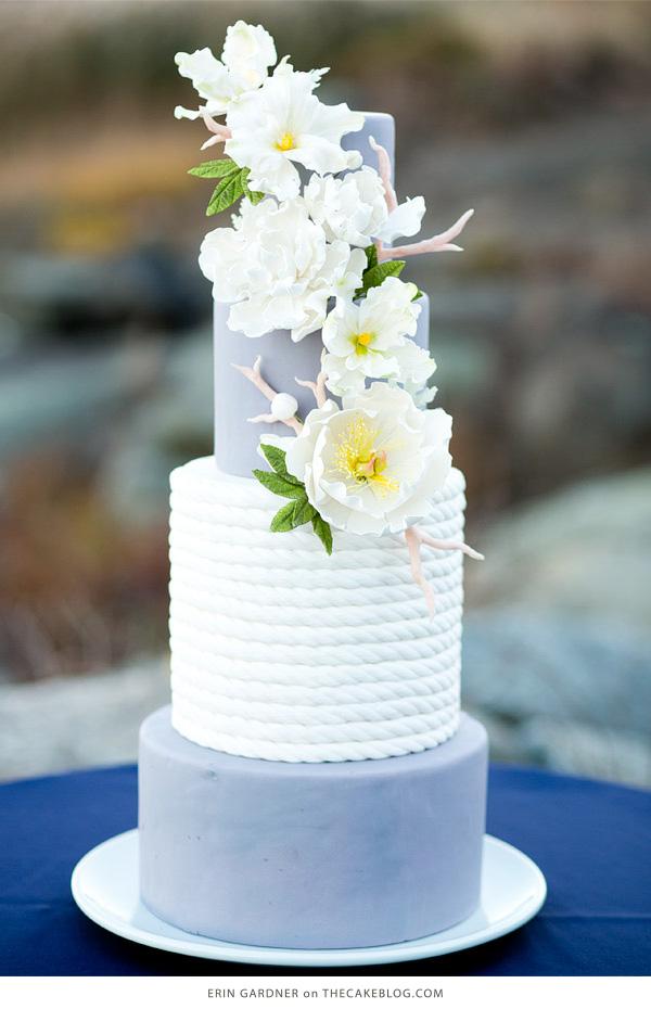 10 Sea-Loving Nautical Cakes | including this design by Erin Gardner | on TheCakeBlog.com