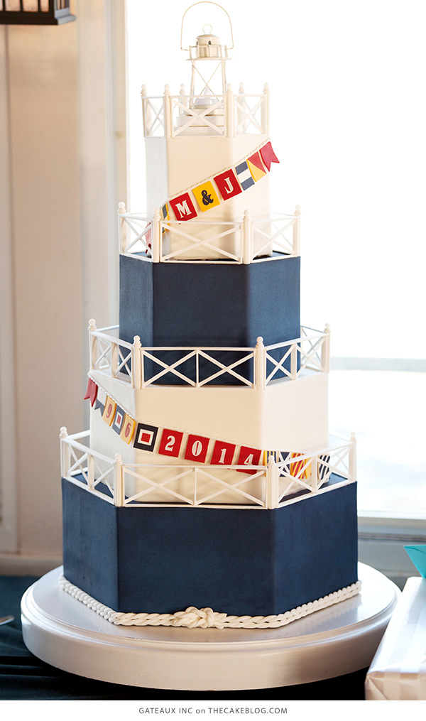 10 Sea-Loving Nautical Cakes | including this design by Gateaux Inc | on TheCakeBlog.com