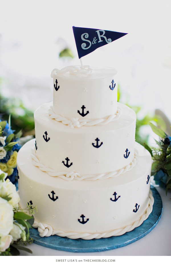 10 Sea-Loving Nautical Cakes  | including this design by Sweet Lisa's| on TheCakeBlog.com