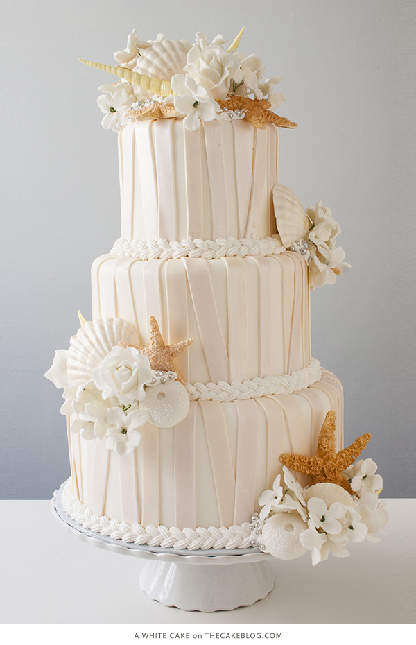 10 Sea-Loving Nautical Cakes | including this design by A White Cake| on TheCakeBlog.com