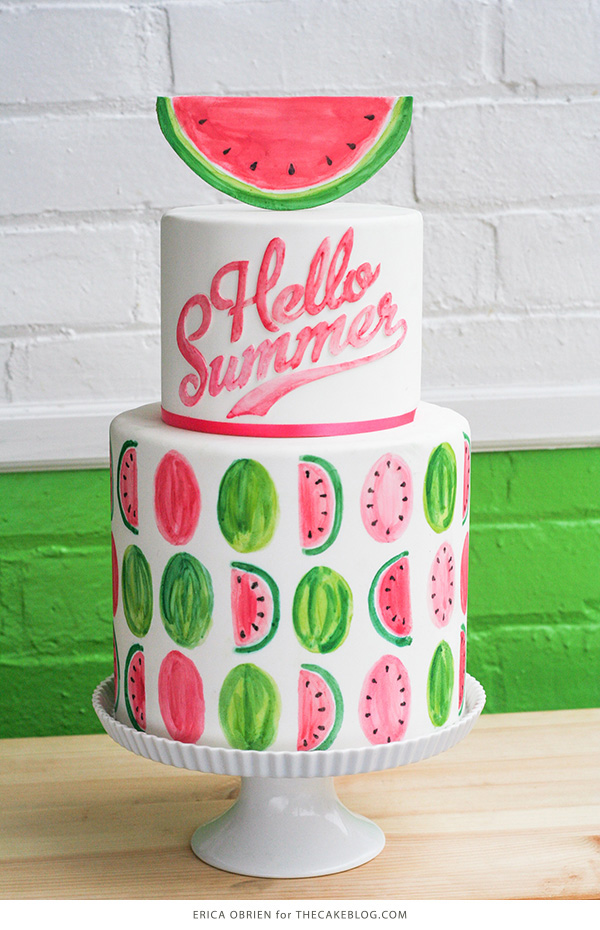 Watermelon Cake | by Erica OBrien for TheCakeBlog.com