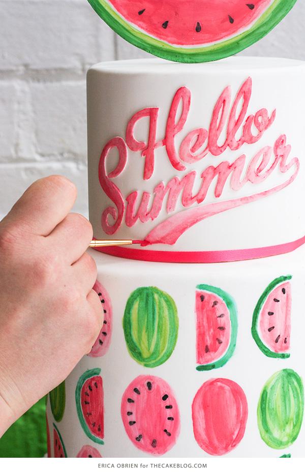 Watermelon Cake | by Erica OBrien for TheCakeBlog.com