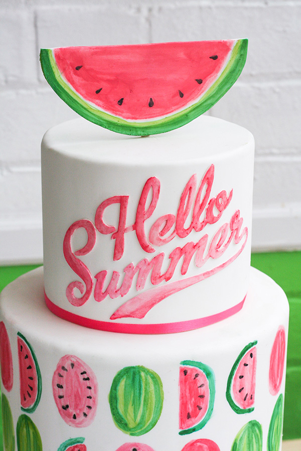Groovy Watermelon Cake The Cake Blog Funny Birthday Cards Online Inifofree Goldxyz