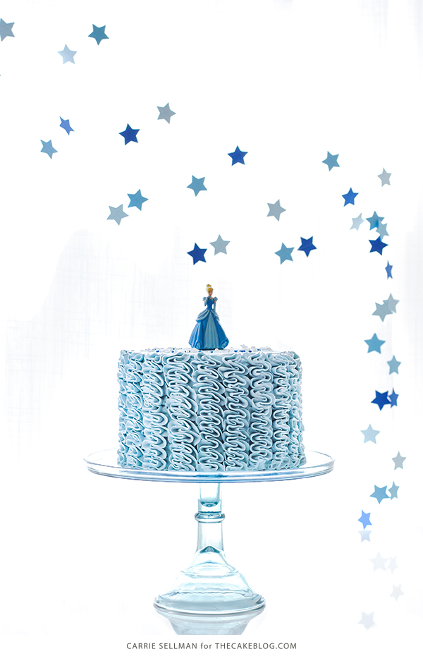 Cinderella Cake - how to make a Cinderella birthday cake with fairytale buttercream ruffles | Carrie Sellman for TheCakeBlog.com