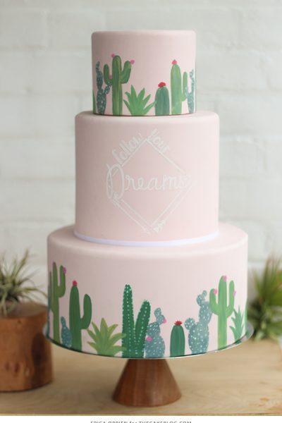 Mid-Century Cactus Cake