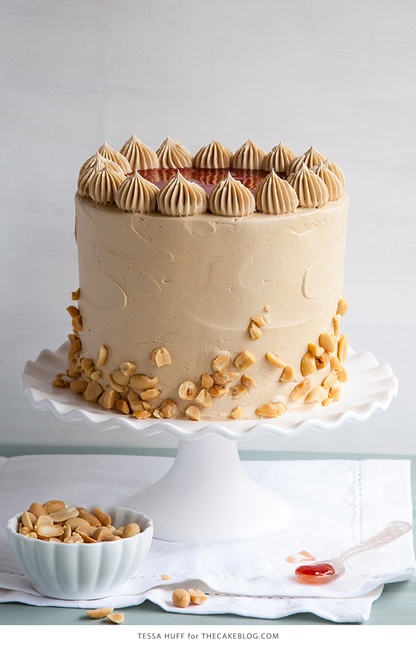 Peanut Butter & Jelly Cake | peanut butter cake with brown sugar ...