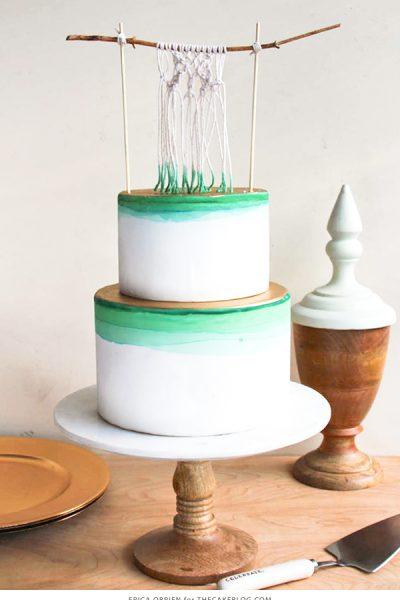 Dip Dye Macramé Cake