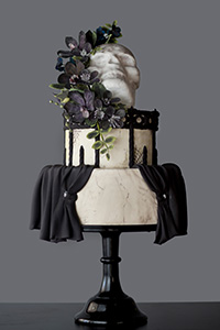 Voodoo Goth Halloween Cake | by Erin Gardner for TheCakeBlog.com