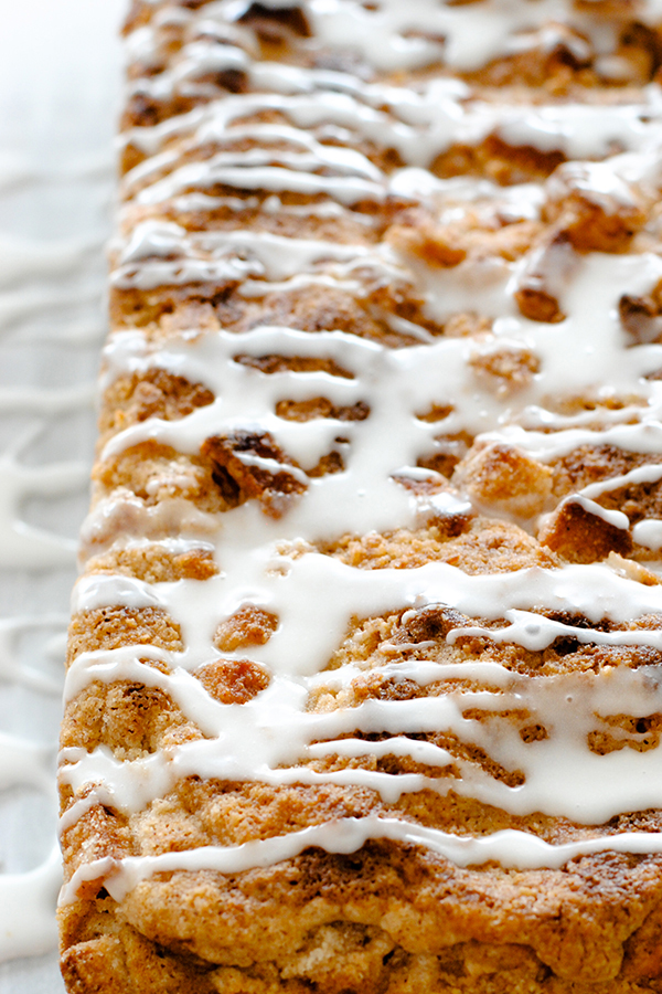 Apple Crumb Cake with chunks of fresh apple, cinnamon and a double crumble topping | Carrie Sellman for TheCakeBlog.com