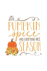 It's Pumpkin Spice Season| Free Smartphone & Desktop Wallpaper. Also available as a free 8x10 printable | by Jessica Kirkland for TheCakeBlog.com