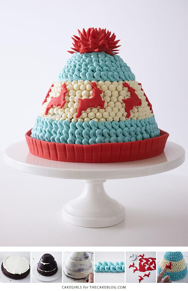 Enjoyable Winter Hat Cake The Cake Blog Personalised Birthday Cards Sponlily Jamesorg