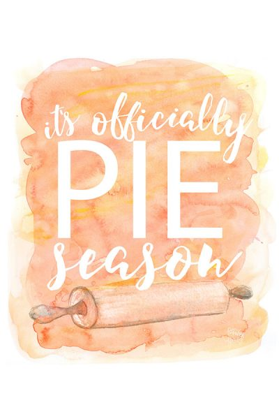 It's Officially Pie Season | Free Smartphone & Desktop Wallpaper. Also available as a free 8x10 printable | by Jessica Kirkland for TheCakeBlog.com