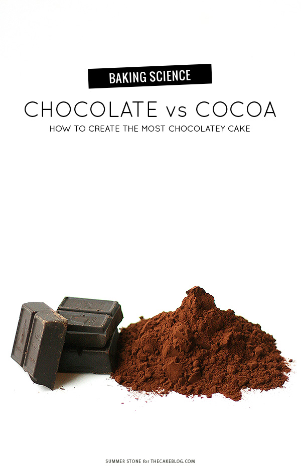 Chocolate vs Cocoa - how to make the most chocolatey cake | by Summer Stone for TheCakeBlog.com