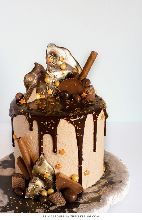 How to make a drippy chocolate cake | Erin Gardner for TheCakeBlog.com