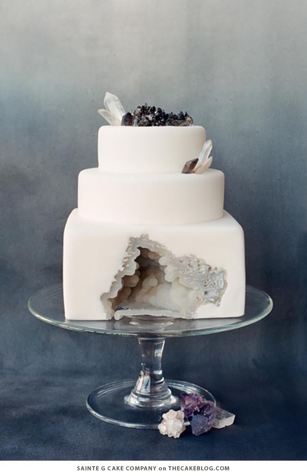 10 Wintry White Cakes | including this design by Sainte G Cake Company | on TheCakeBlog.com