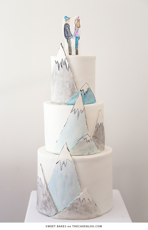 10 Wintry White Cakes | including this design by Sweet Bakes | on TheCakeBlog.com