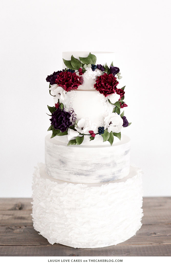 10 Wintry White Cakes | including this design by Laugh Love Cakes | on TheCakeBlog.com
