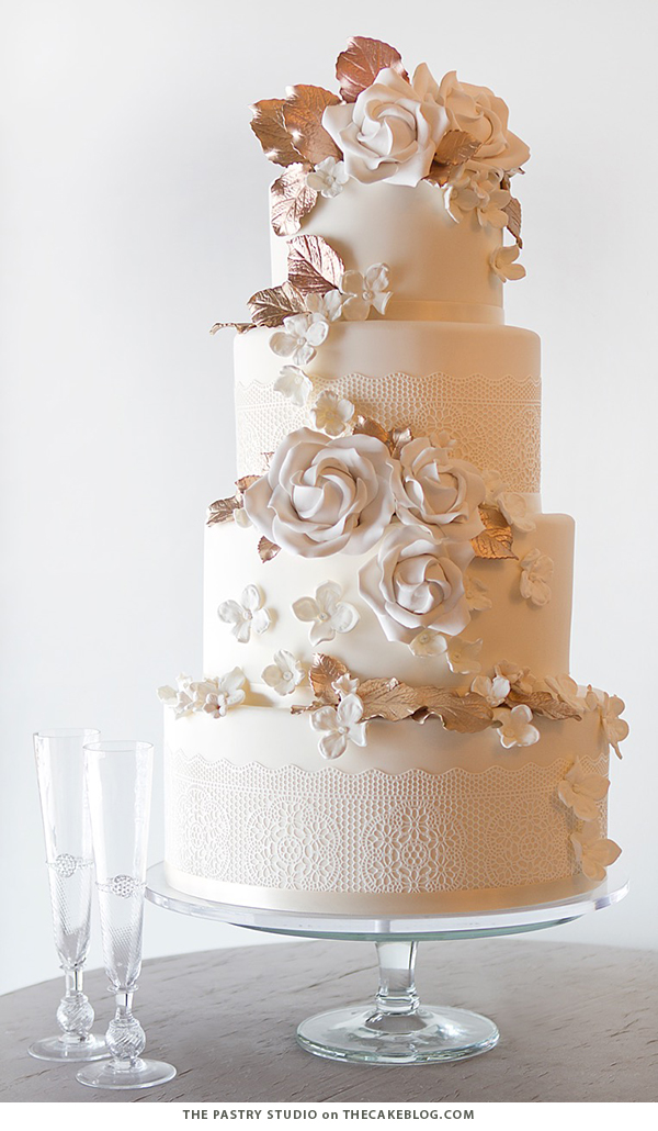 10 Wintry White Cakes | including this design by The Pastry Studio | on TheCakeBlog.com