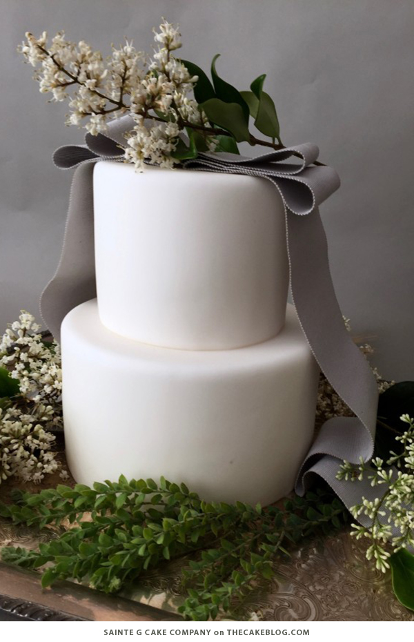 10 Wintry White Cakes | including this design by Sainte G Cake Company | on TheCakeBlog.com