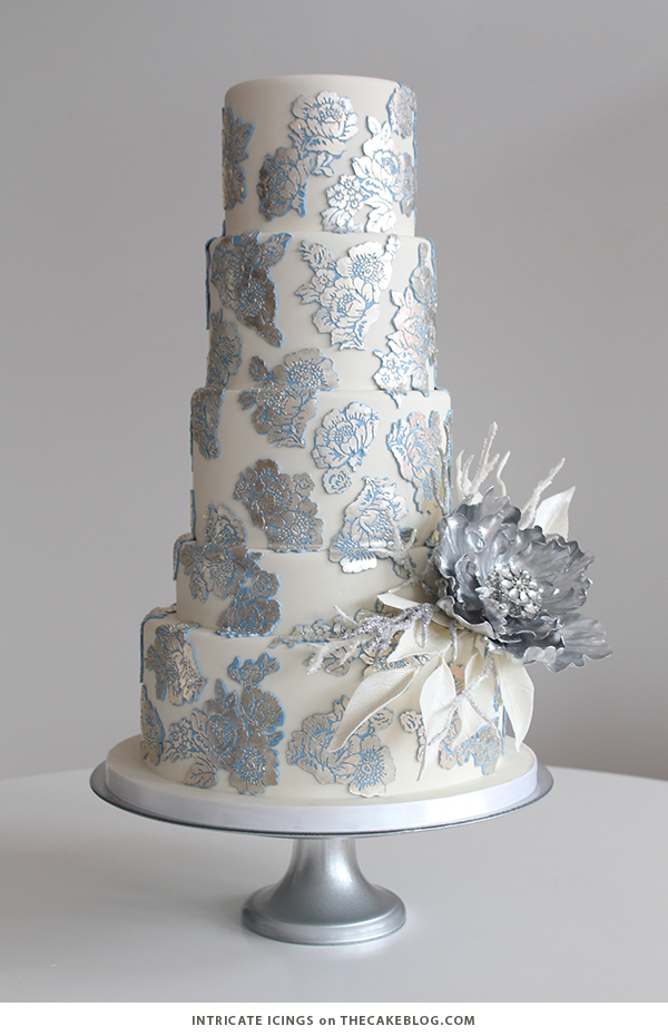 10 Wintry White Cakes | including this design by Intricate Icings | on TheCakeBlog.com