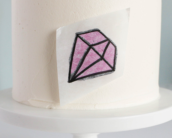 You're A Gem Cake with buttercream transfer tutorial | by Erin Gardner for TheCakeBlog.com