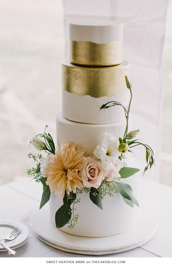 10 Floral Cakes for Spring | including this design by Sweet Heather Anne | on TheCakeBlog.com