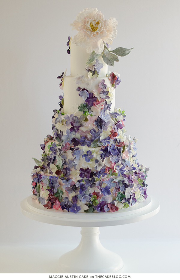 10 Floral Cakes for Spring | including this design by Maggie Austin Cake | on TheCakeBlog.com