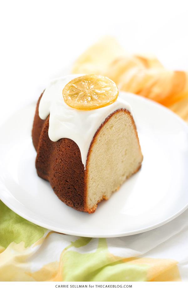 Easy yellow pound cake with lemon glaze