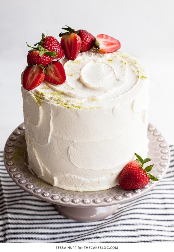 Swell Matcha Strawberry Cake The Cake Blog Birthday Cards Printable Riciscafe Filternl