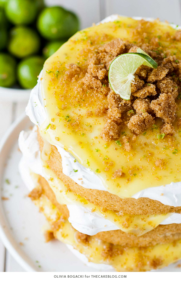 Key Lime Pie Cake | by Olivia Bogacki for TheCakeBlog.com