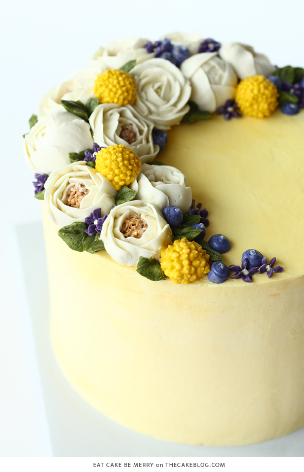 10 Yellow Wedding Cakes | including this design by Eat Cake Be Merry | on TheCakeBlog.com