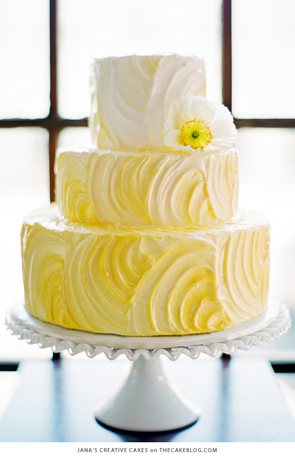 10 brilliant yellow cakes10 yellow wedding cakes including this design by jana\u0027s creative cakes on thecakeblog