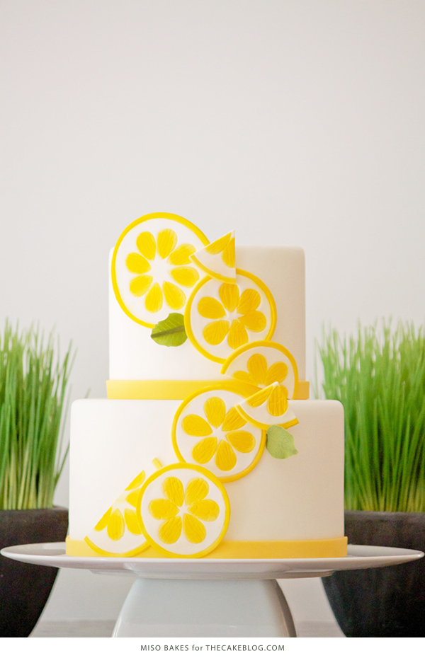 10 Yellow Wedding Cakes | including this design by Miso Bakes | on TheCakeBlog.com